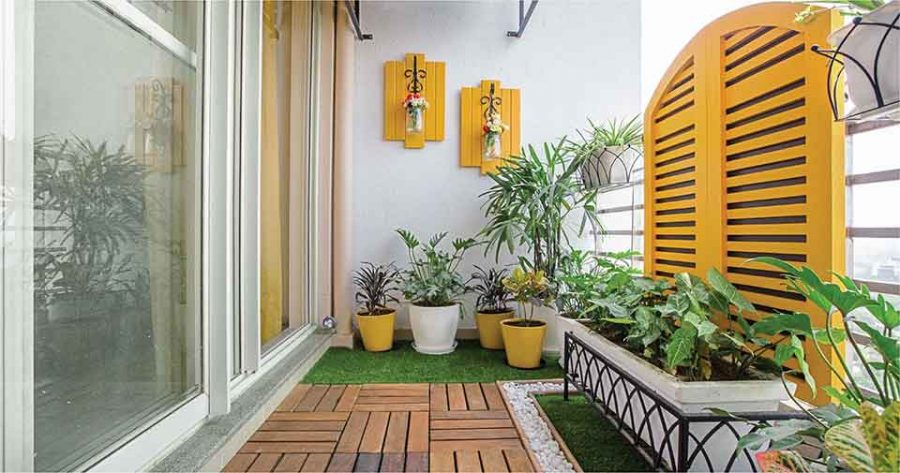 Cây xanh mang đến không gian thoáng đãng cho ban công nhà bạn