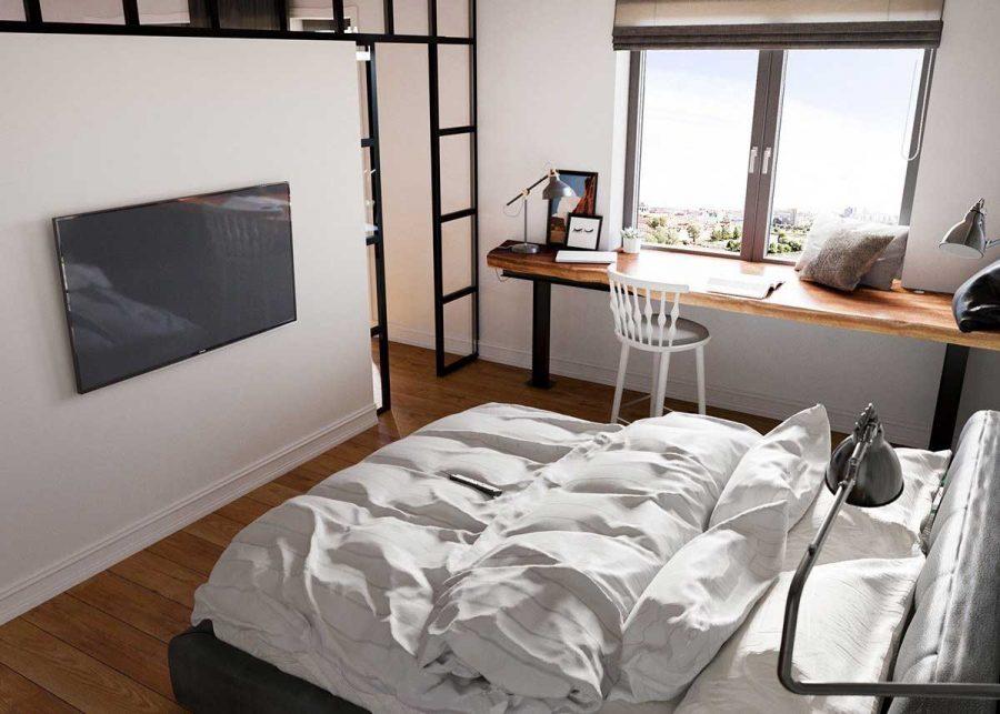 Phòng ngủ đơn giản không có quá nhiều nội thất nhưng vẫnđảm bảo đủ sự tiện nghi