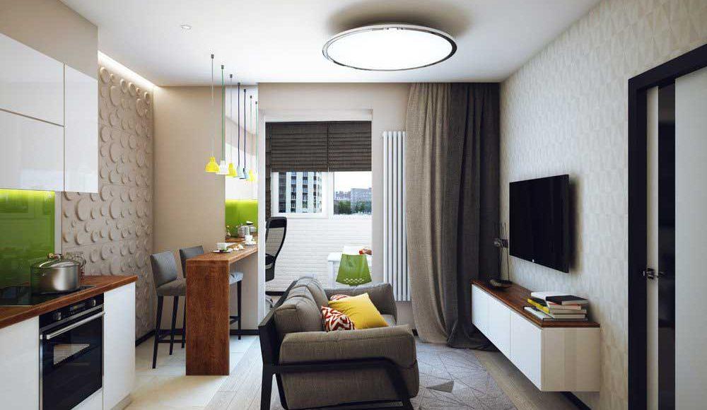 Phòng khách kết hợp với nhà bếp, bàn ăn một cách hiệu quả trong một không gian nhỏ