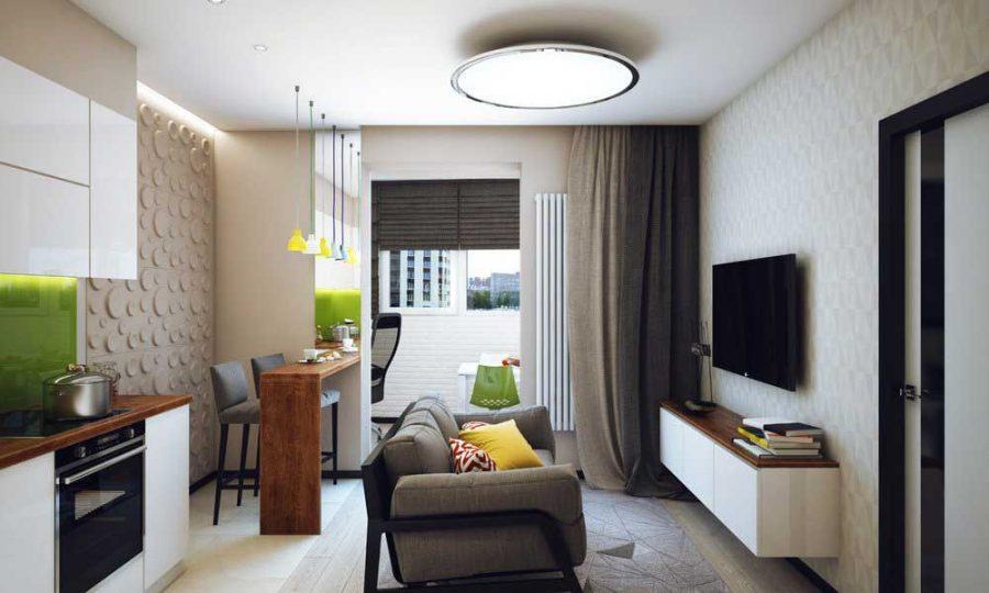 5 bí quyết khi thiết kế trang trí nội thất căn hộ 1 phòng ngủ
