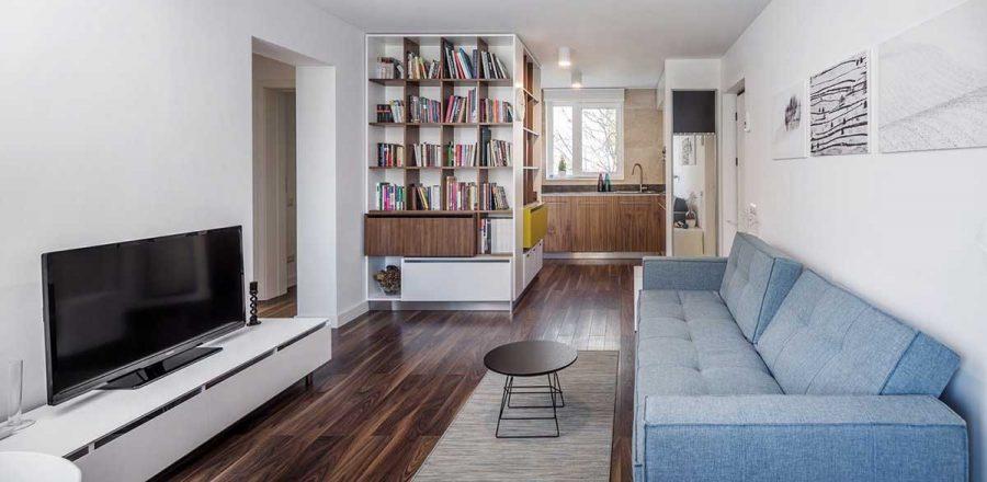 Không gian trong nhà không bị phân chia quá nhiều bởi các vách tường