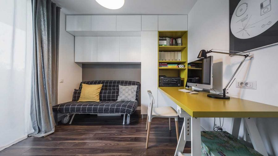 Phòng ngủ đơn giản với thiết kế thông minh và đơn giản