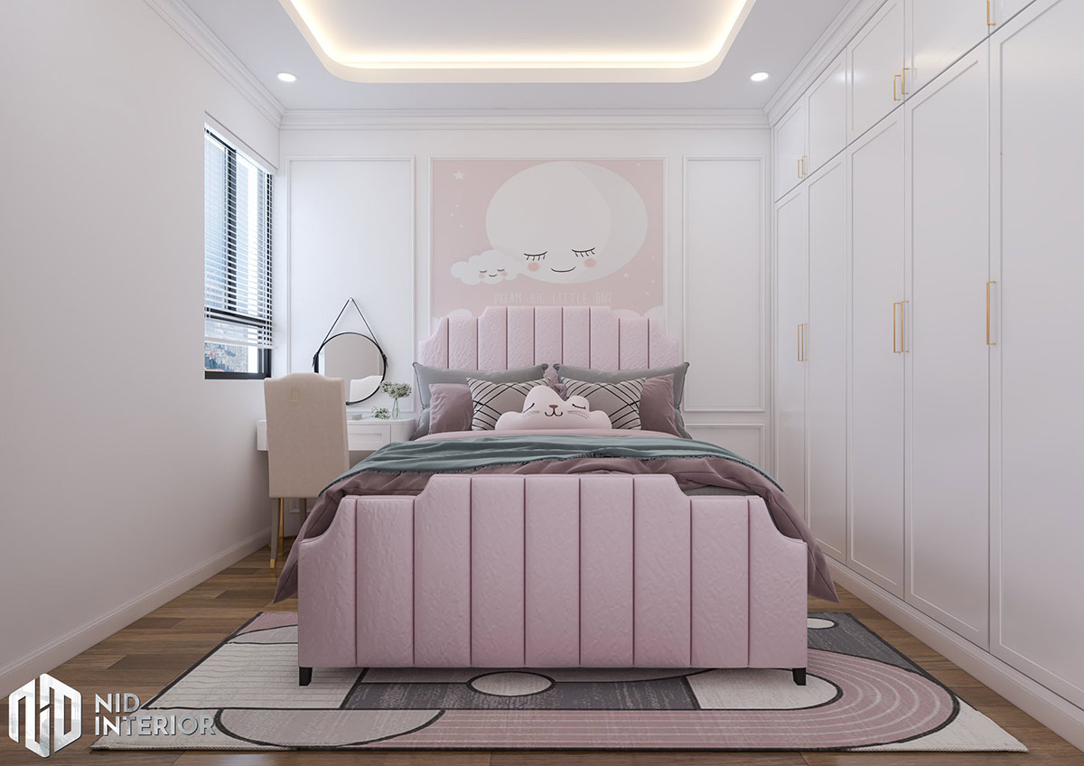Thiết kế nội thất căn hộ Emerald 63m2 - Phòng ngủ trẻ em