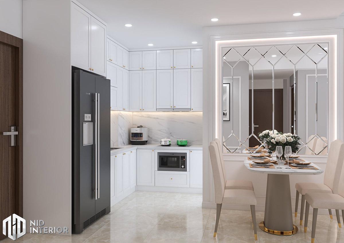 Thiết kế nội thất căn hộ Emerald 63m2 - Bếp