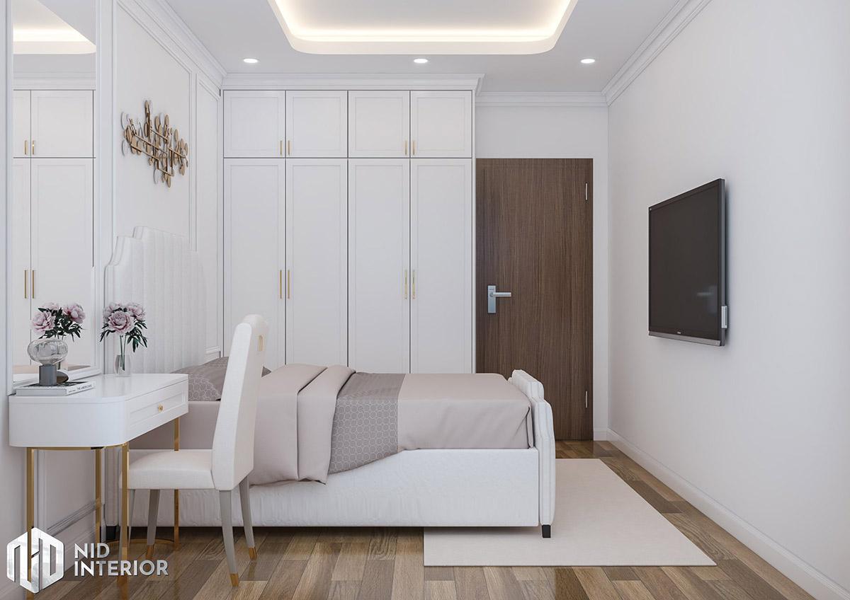 Thiết kế nội thất căn hộ Emerald 63m2 - Phòng ngủ master