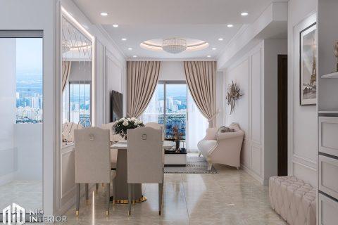 Thiết kế nội thất căn hộ Emerald 63m2 - Celadon City
