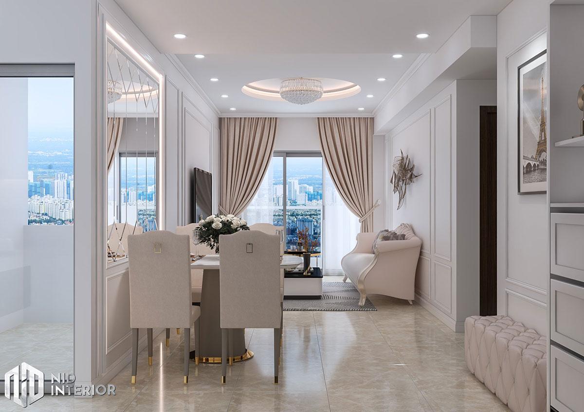 Thiết kế nội thất căn hộ Emerald 63m2 - Bàn ăn
