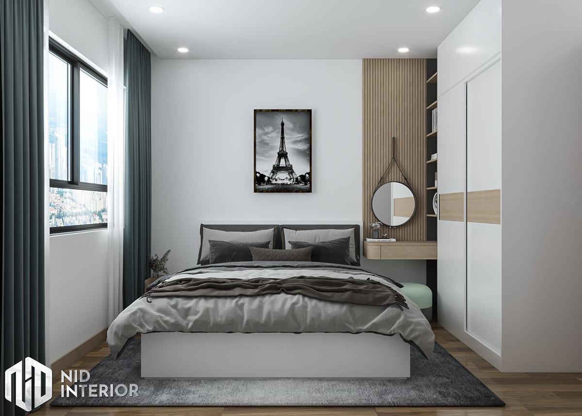 Thiết kế nội thất căn hộ Vinhomes Grand Park 69m2 - Phòng ngủ master