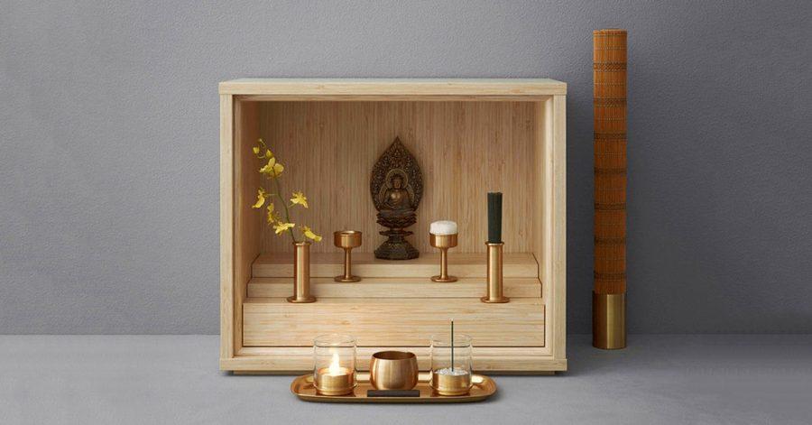 Vật liệu làm bàn thờ chung cư phải được làm từ gỗ tự nhiên và mới hoàn toàn