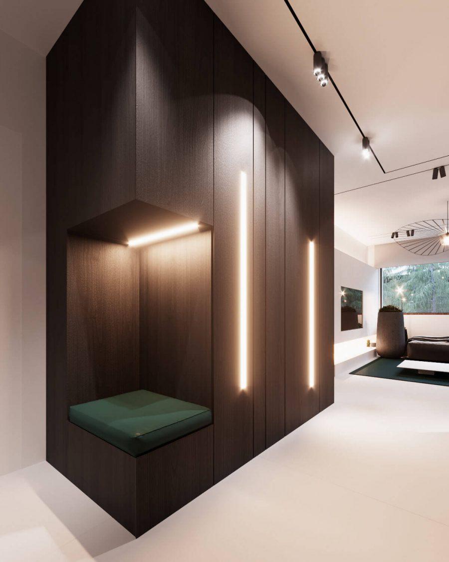 Một chỗ ngồi được tích hợp với hệ thống ánh sáng mát mẻ khiến đây trở thành một không gian thực sự đặc biệt