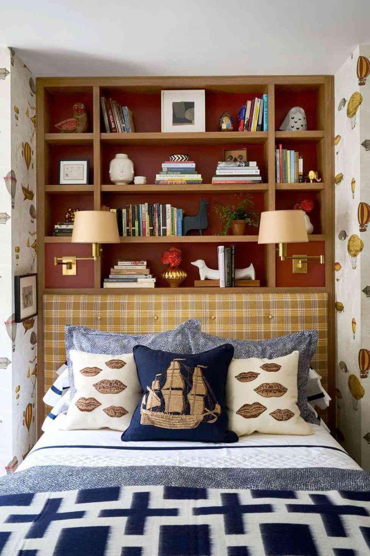 Decor phòng ngủ với giá sách sẽ tăng thêm nhiều tiện ích cho người dùng