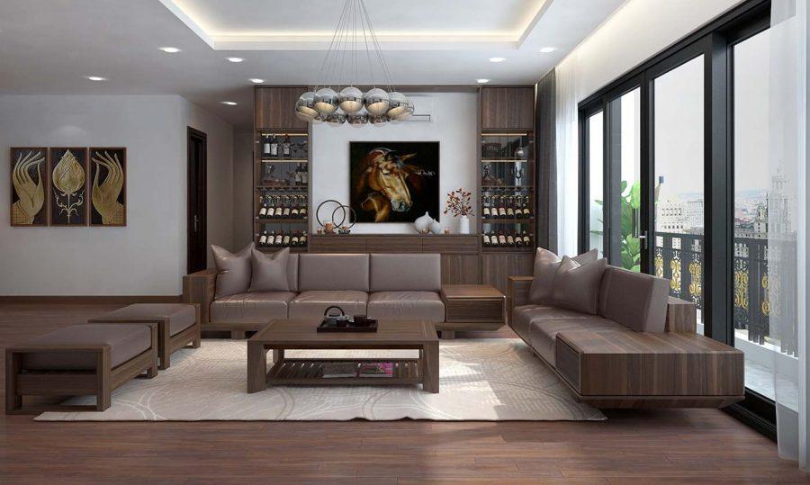 Gỗ óc chó là một loại vật liệu được nhiều người yêu thích khi thiết kế nội thất