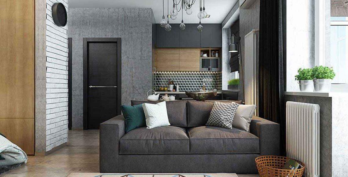 Không gian căn hộ hiện đại với gam màu trầm chủ đạo