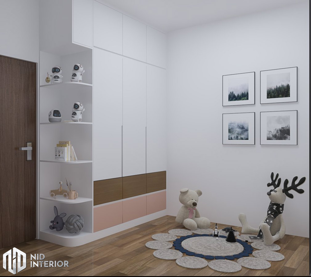 Thiết kế nội thất căn hộ Centum Wealth 2 phòng ngủ - Phòng trẻ em