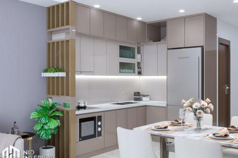 Thiết kế nội thất căn hộ Centum Wealth 2 phòng ngủ