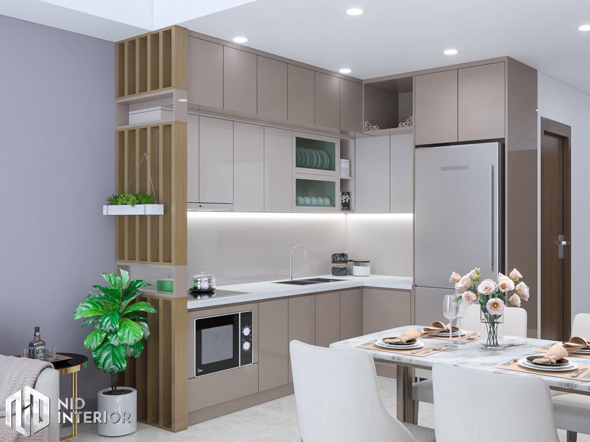 Thiết kế nội thất căn hộ Centum Wealth 2 phòng ngủ - Bếp