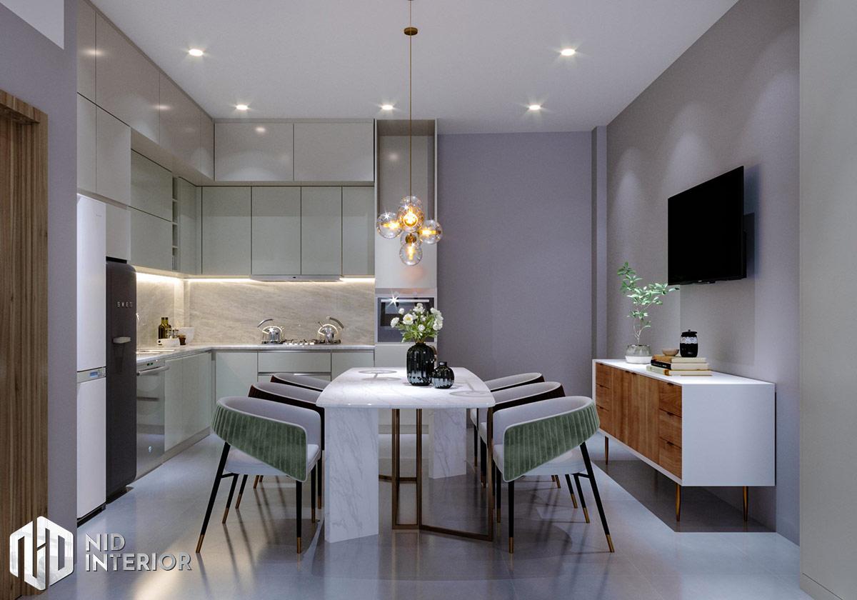 Mẫu thiết kế nội thất nhà phố Thủ Đức - Bàn ăn