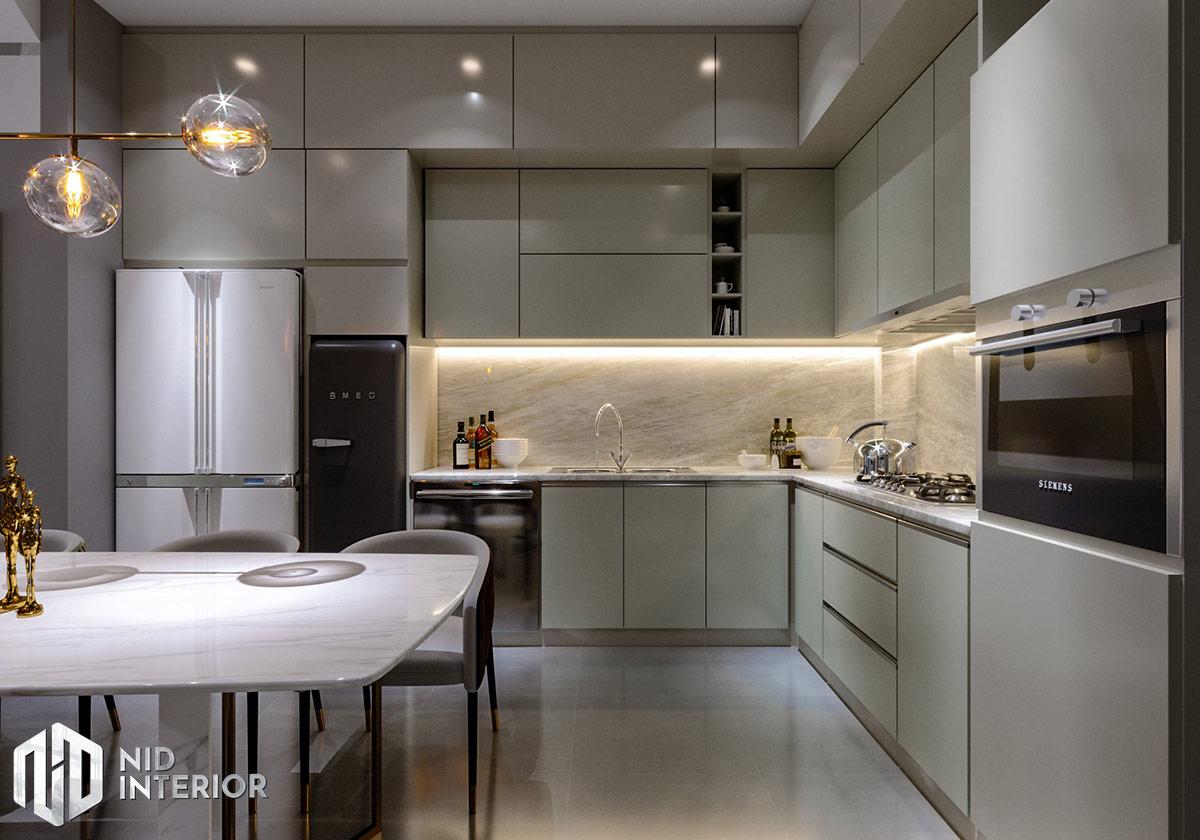Mẫu thiết kế nội thất nhà phố Thủ Đức - Khu bếp