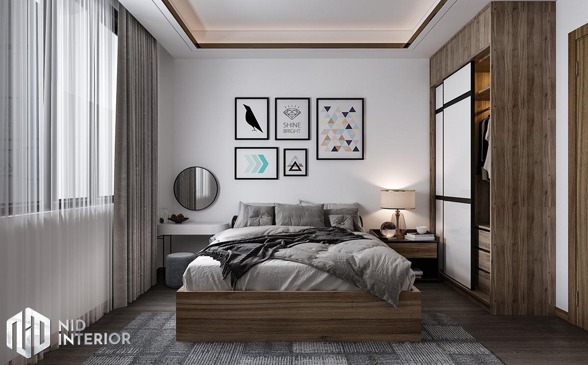Mẫu thiết kế nội thất nhà phố Thủ Đức - Phòng ngủ master