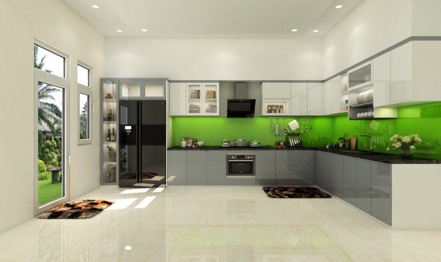 Tủ bếp Acrylic giúp không gian nhà bếp của bạn trở nên sang trọng hơn