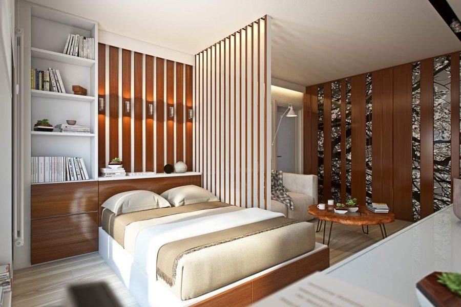 Kiểu dáng và họa tiết của vách ngăn nên hòa hợp với không gian căn phòng