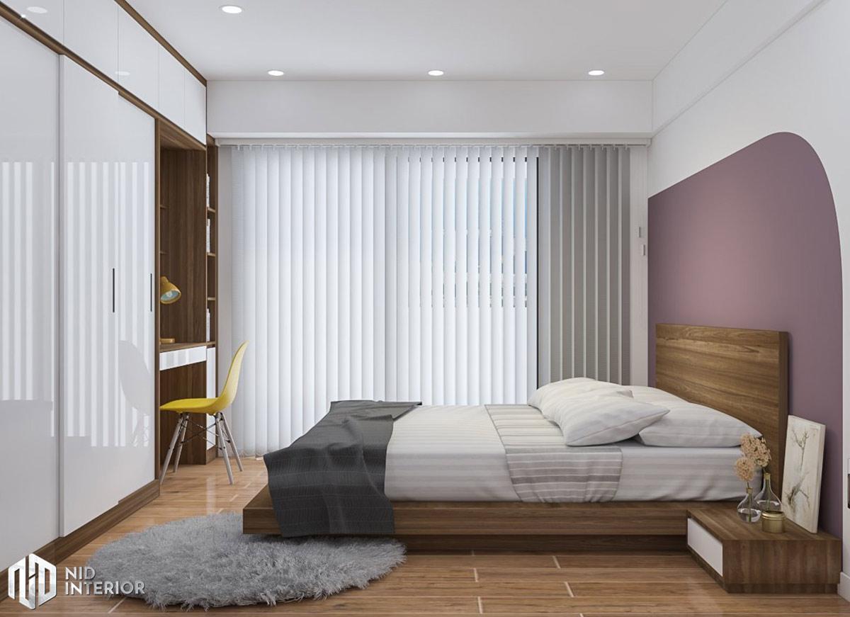 Cải tạo nội thất căn hộ chung cư 2 phòng ngủ - Phòng ngủ chính