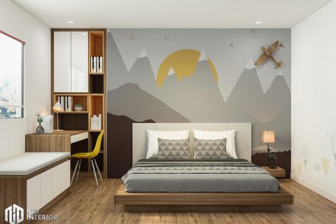 Cải tạo nội thất căn hộ chung cư 2 phòng ngủ