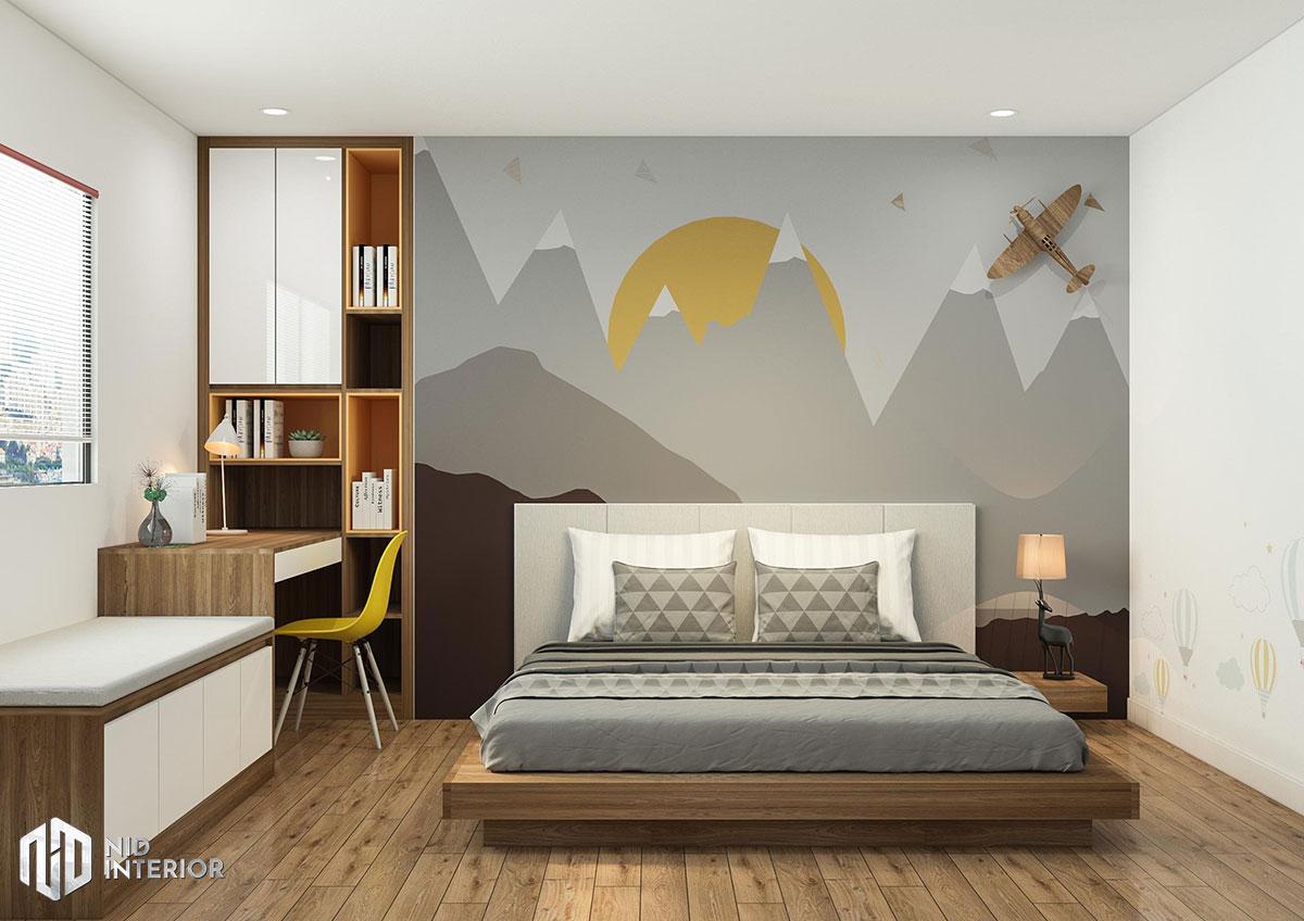 Cải tạo nội thất căn hộ chung cư 2 phòng ngủ - Phòng ngủ trẻ em