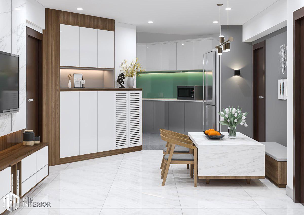 Cải tạo nội thất căn hộ chung cư 2 phòng ngủ - Khu bếp
