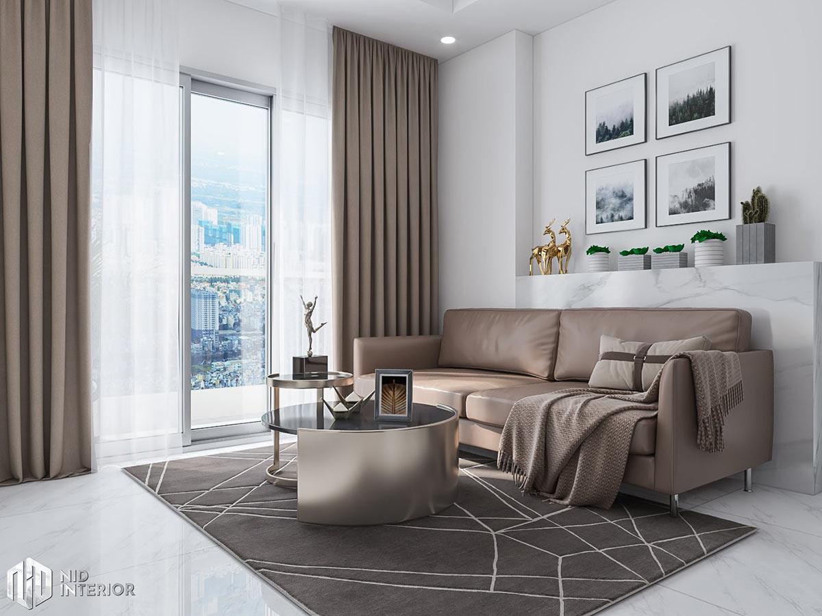 Thiết kế nội thất căn hộ Conic Riverside 66m2 - Sofa phòng khách