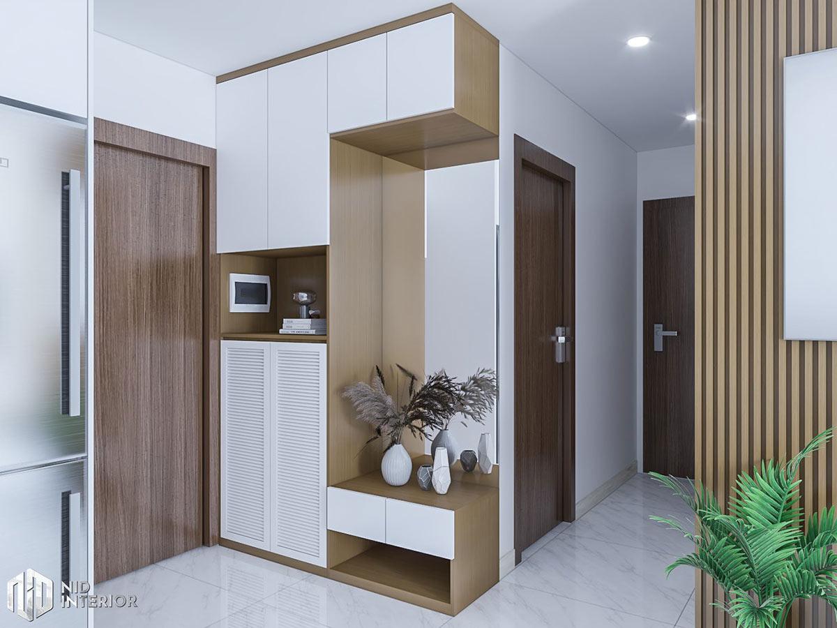 Thiết kế nội thất căn hộ Conic Riverside 66m2 - Tủ giày
