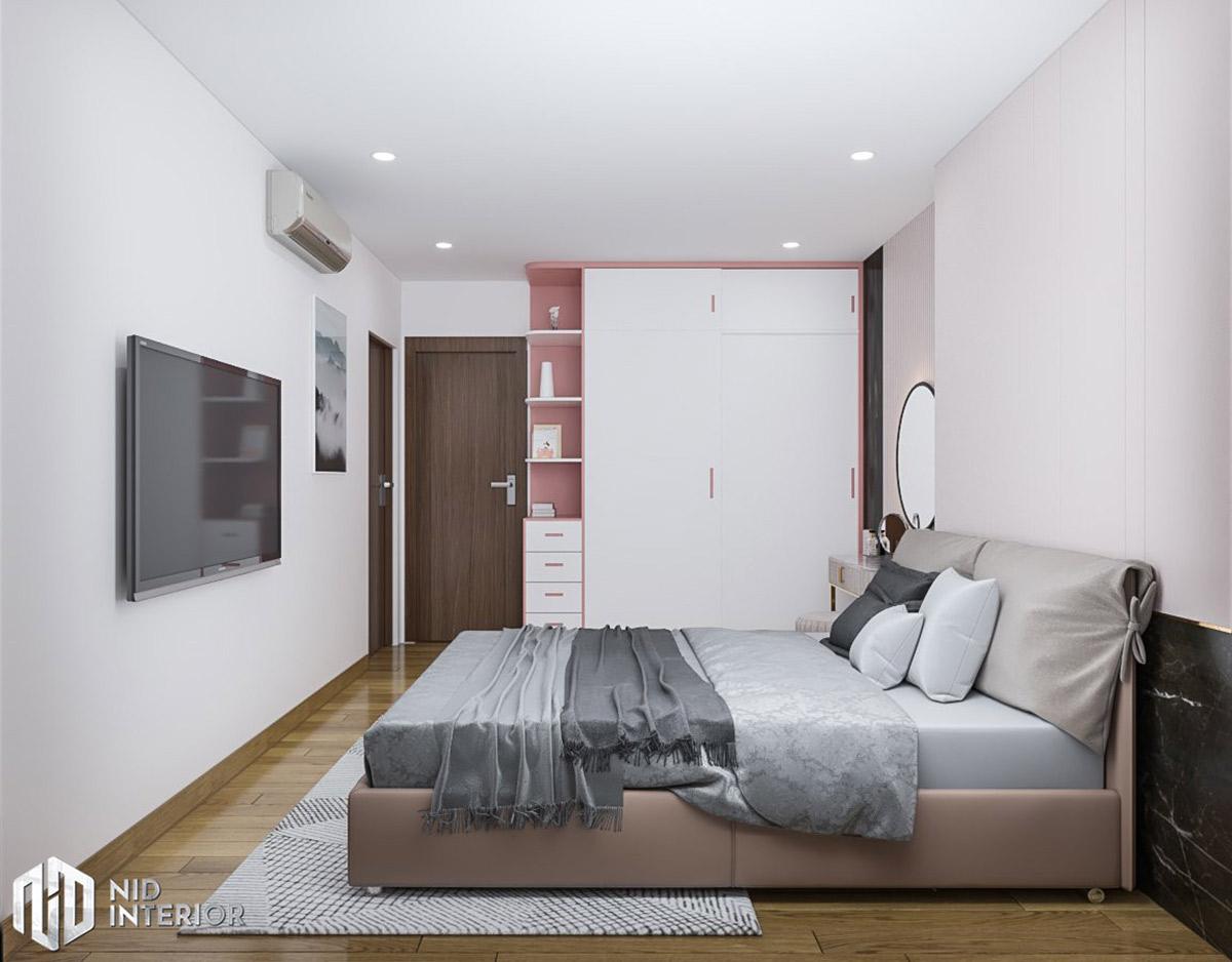 Thiết kế nội thất căn hộ Conic Riverside 66m2 - Phòng ngủ master
