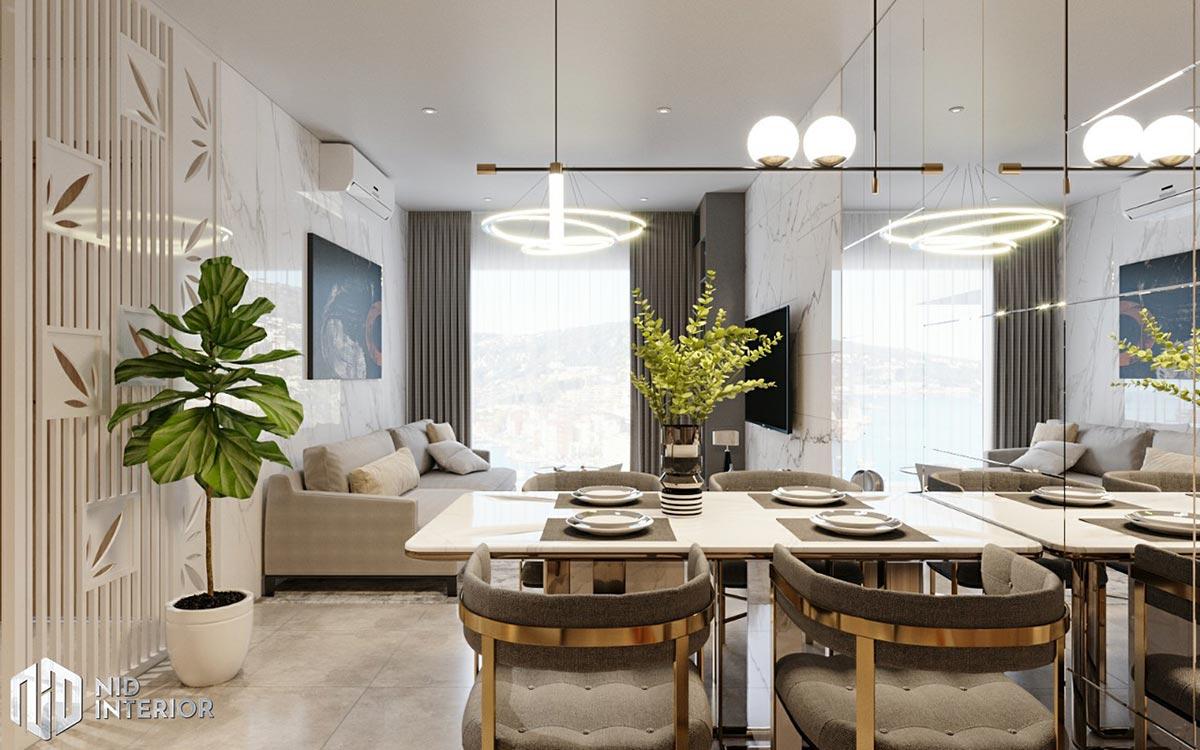 Thiết kế nội thất căn hộ De Capella 50m2 - Phòng khách