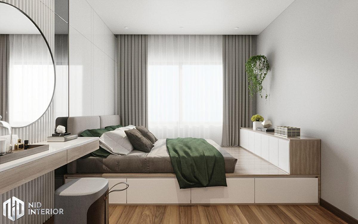 Thiết kế nội thất căn hộ De Capella 50m2 - Phòng ngủ