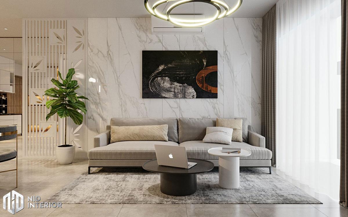 Thiết kế nội thất căn hộ De Capella 50m2 - Sofa