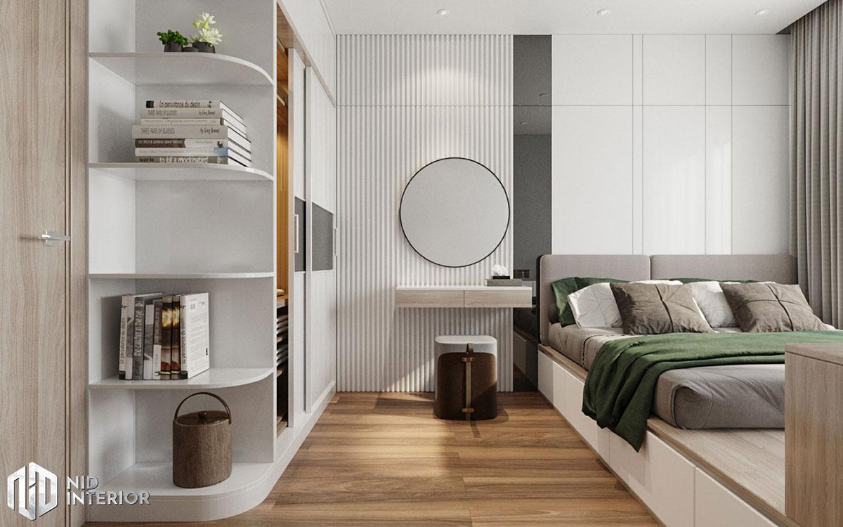 Thiết kế nội thất căn hộ De Capella 50m2 - Bàn trang điểm