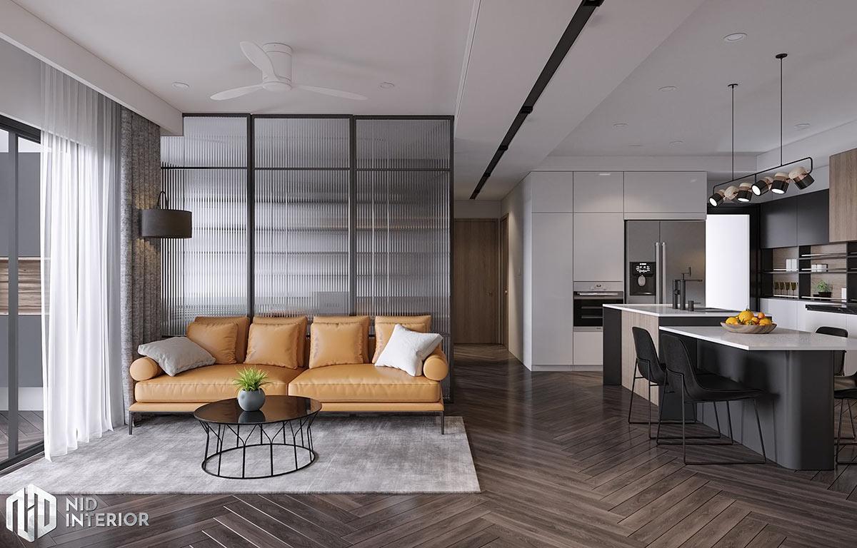 Thiết kế nội thất Saigon South Residences - Phòng khách sofa