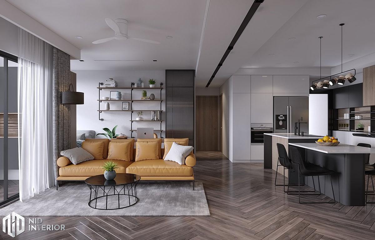 Thiết kế nội thất Saigon South Residences - Phòng khách