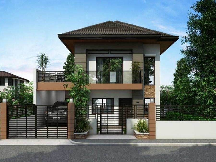 Mẫu nhà 2 tầng đẹp - Hình 1