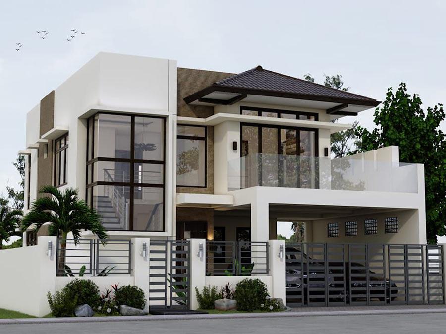 Mẫu nhà 2 tầng đẹp - Hình 4