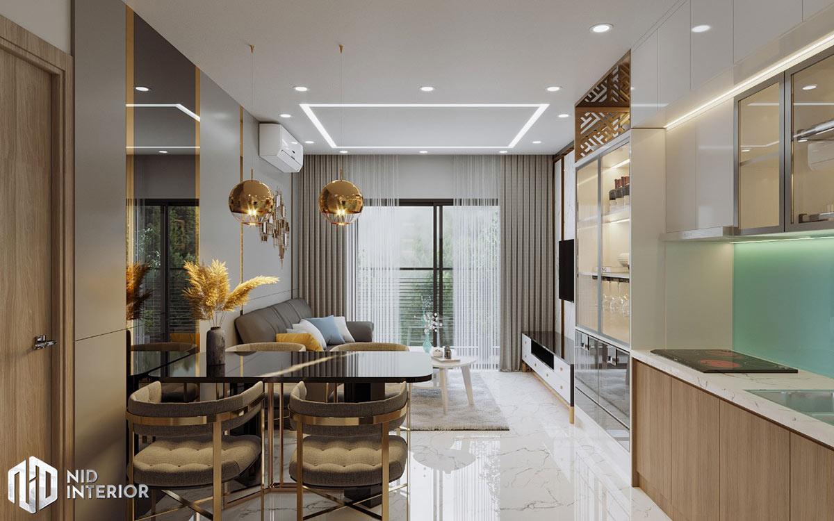 Thiết kế nội thất căn hộ Centum Wealth 68m2 - Bàn ăn