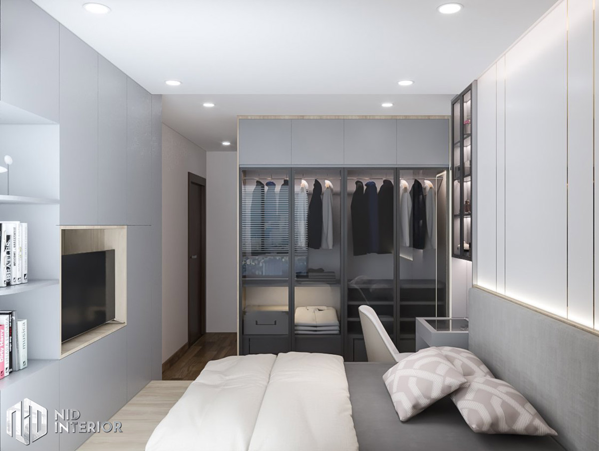 Thiết kế nội thất căn hộ Centum Wealth 68m2 - Phòng ngủ master