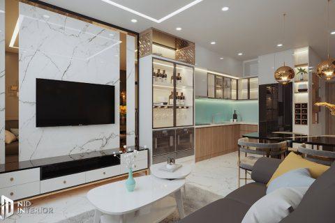 Thiết kế nội thất căn hộ Centum Wealth 68m2