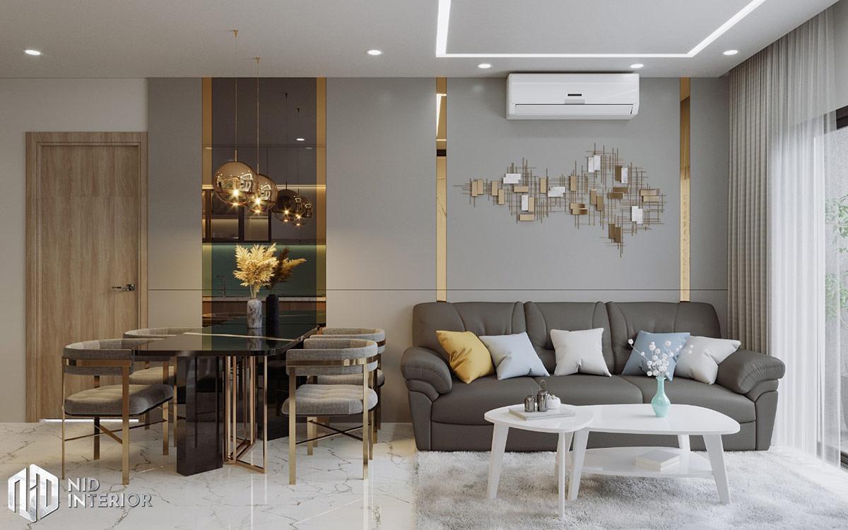 Thiết kế nội thất căn hộ Centum Wealth 68m2 - Sofa phòng khách