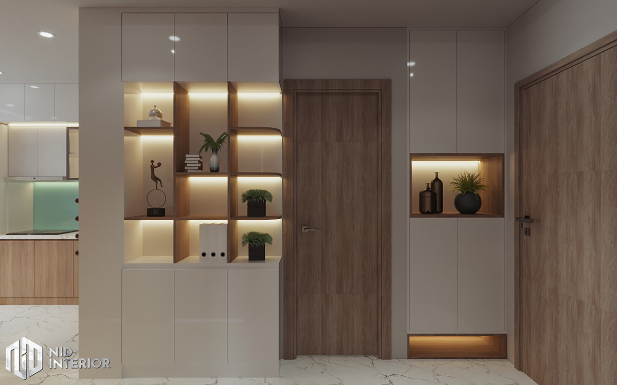 Thiết kế nội thất căn hộ Centum Wealth 68m2 - Tủ giày