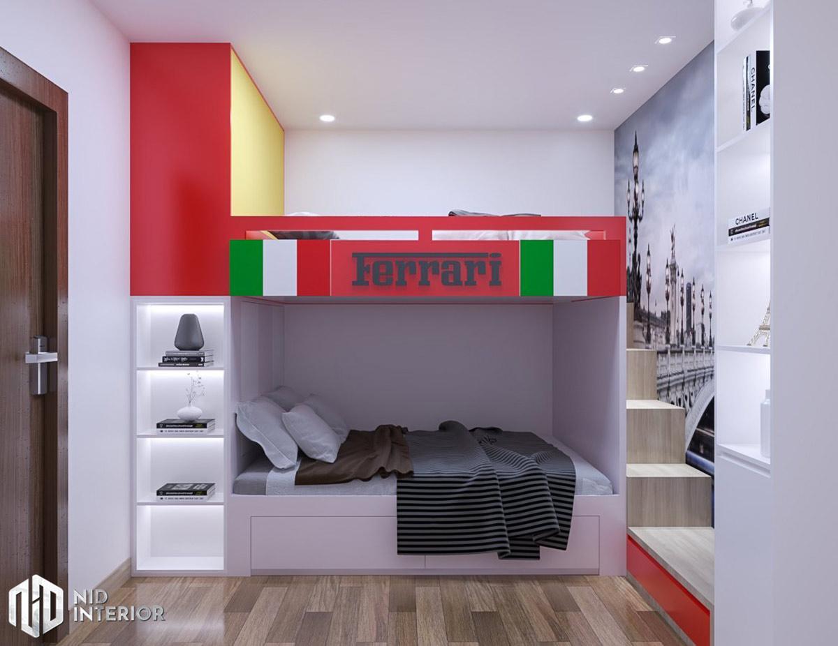 Thiết kế nội thất căn hộ Centum Wealth 68m2 - Phòng ngủ trẻ em