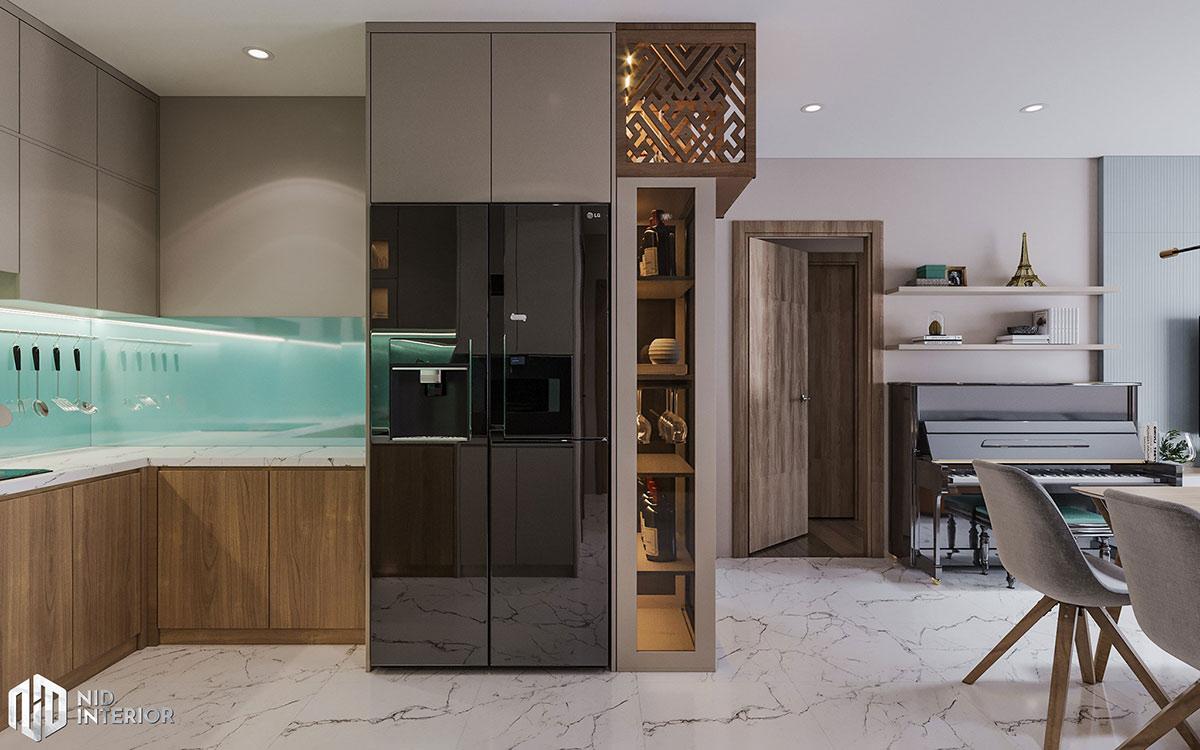 Thiết kế nội thất căn hộ Centum Wealth 94m2 - Tủ trang trí