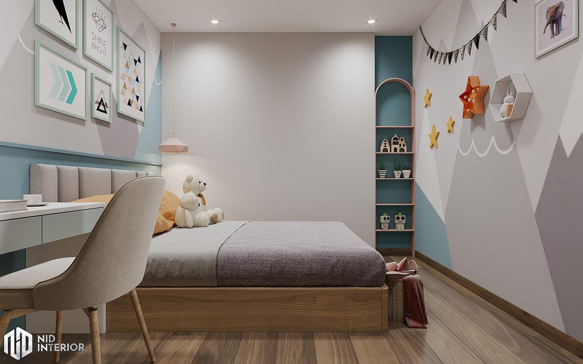 Thiết kế nội thất căn hộ Centum Wealth 94m2 - Phòng ngủ bé gái