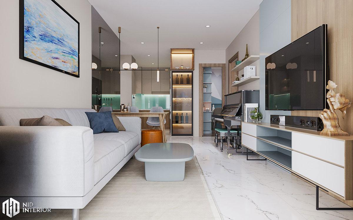 Thiết kế nội thất căn hộ Centum Wealth 94m2 - Phòng khách