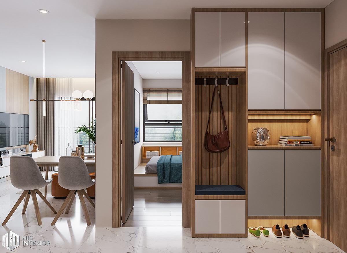 Thiết kế nội thất căn hộ Centum Wealth 94m2 - Tủ giày